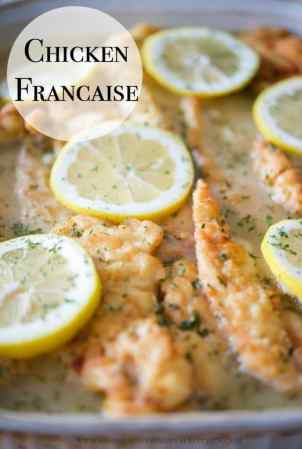 Chicken Francaise   Carrie s Experimental Kitchen Chicken Francaise  which is tender chicken in a light  lemony sauce  is a