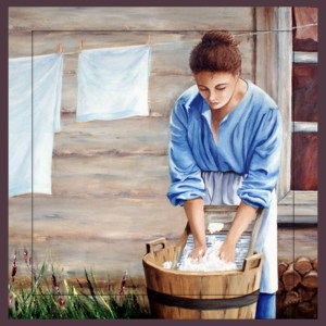 Mennonite Washer woman sq card