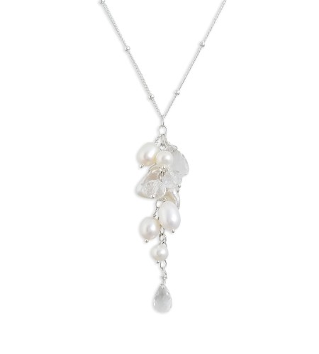 handcrafted white freshwater pearl cluster pendant by Carrie Whelan Designs