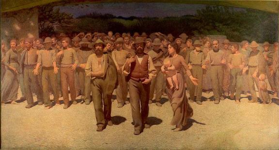 El Cuarto Estado (el proletariado), cuadro de Giuseppe Pellizza da Volpedo