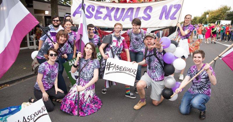 Gruppo asessuale al pride di Auckland 2018