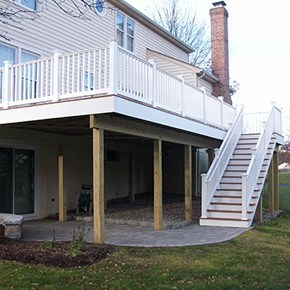Composite Decking Carroll Landscaping