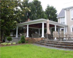 Pavilion Installation Carroll Landscaping, Inc,