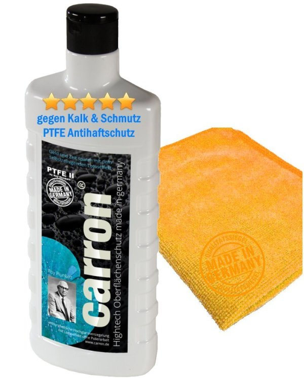 carron® PTFE-II Glas-Versiegelung für Dusche, Duschwand, Badewanne