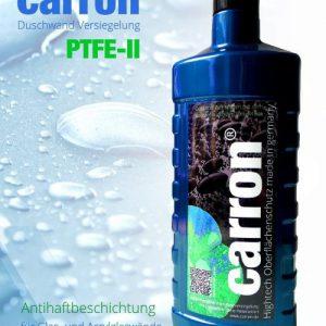 carron® PTFE-II Glas-Versiegelung gegen Kalk und Schmutz an Duschwand, Duschkabine und Badewanne