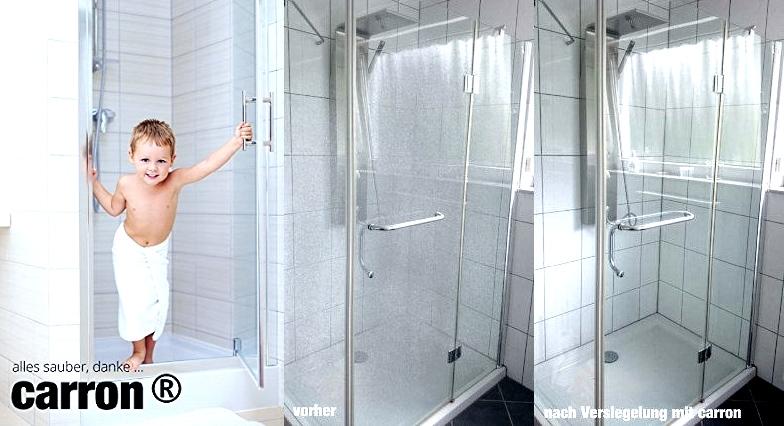 Carron versiegelung gegen kalk schmutz lotuseffekt f r auto dusche - Duschwand reinigen ...