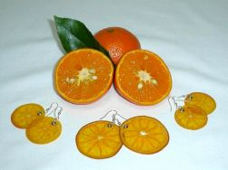Hand Made Jewellery - made from Oranges