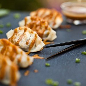 The Best Damn Vegan Dumplings with Easy Peanut Sauce