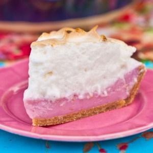 Vegan Pink Lemon Meringue Pie