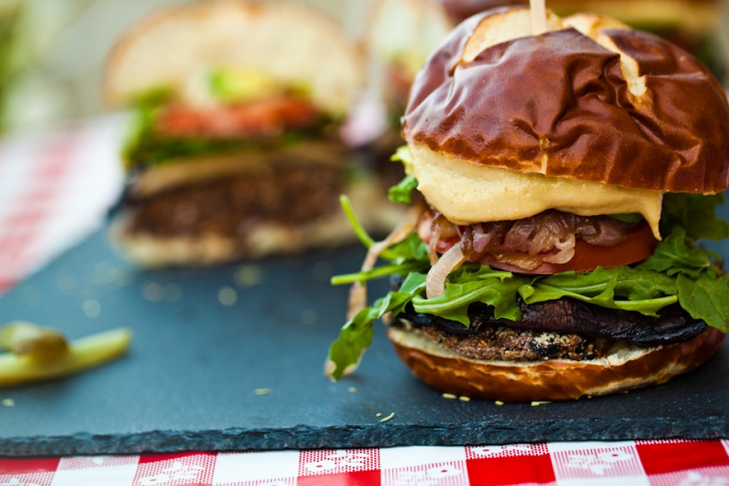 Black Bean Portobello Burgers