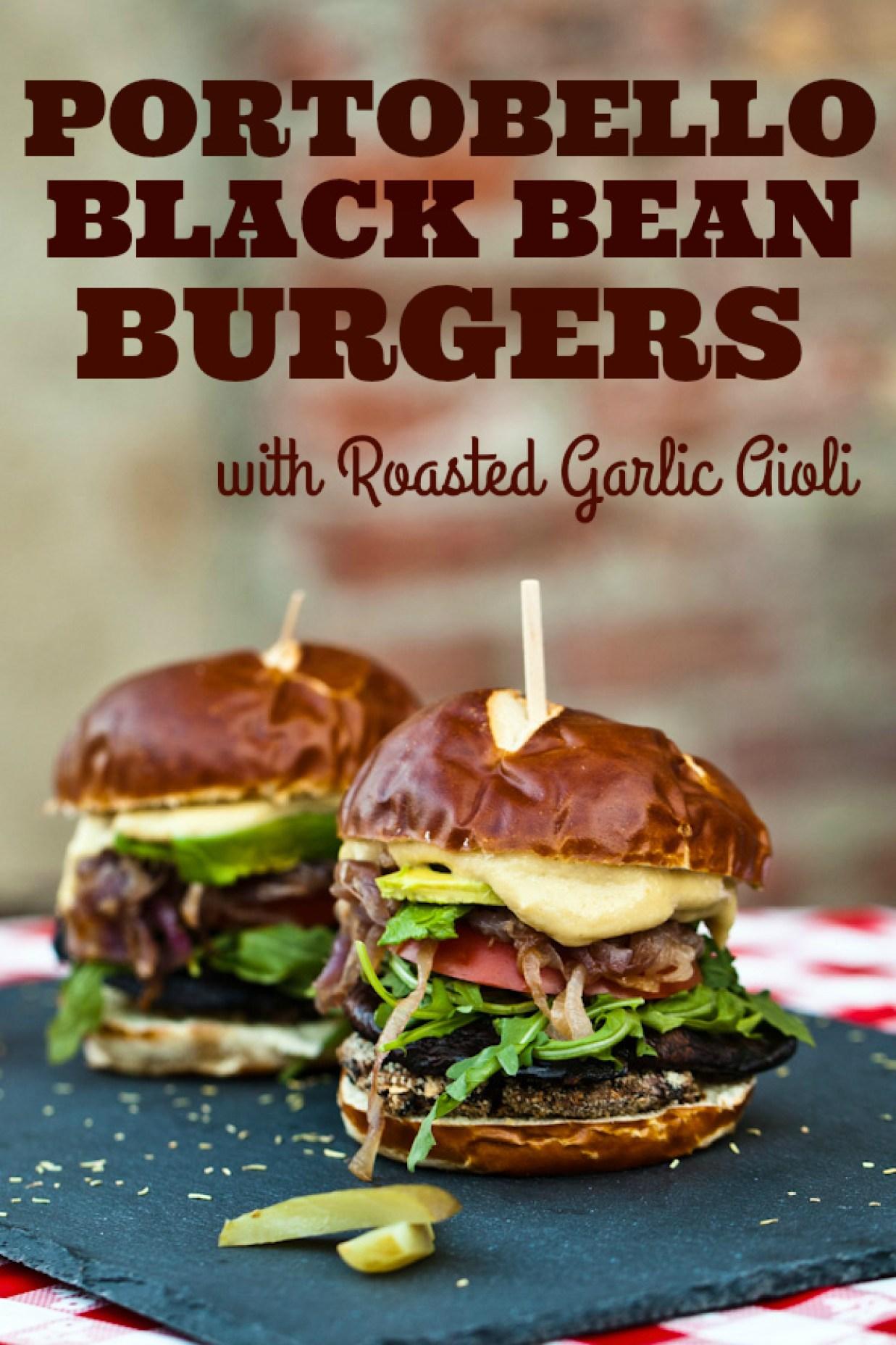 Portobello Black Bean Burgers