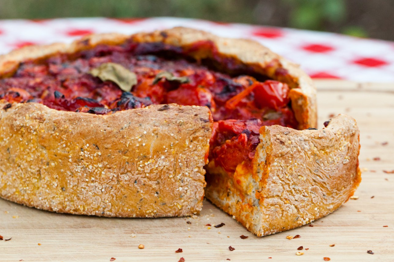 Vegan Chicago Style Deep Dish Pizza