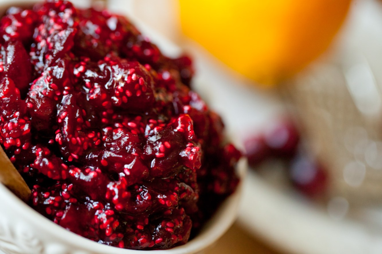 DELICIOUS sugar-free Cranberry Chia Jam with NO REFINED SUGAR | Quick and easy | Ready in 15 minutes | The PERFECT healthy Thanksgiving side dish