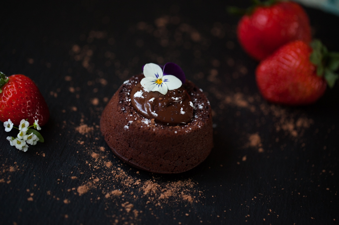 LUSCIOUS Vegan Chocolate Lava Cake   Melty delicious chocolate oozing out of a moist gluten-free cake   Ready in 25 minutes   The perfect quick dessert recipe for impressing guests  