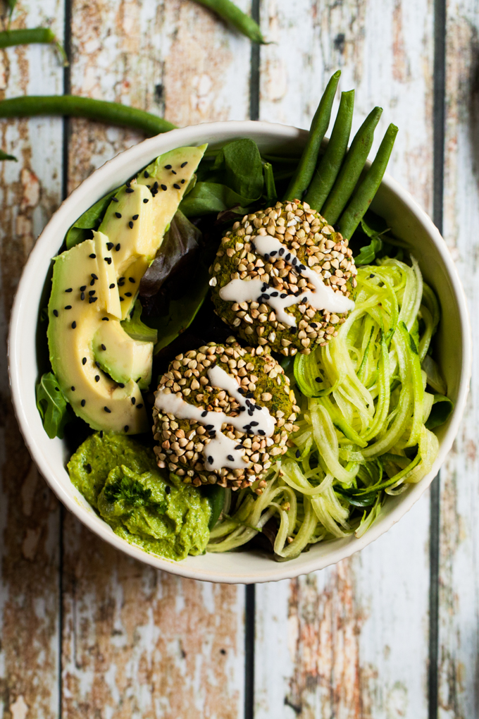 Supergreen Baked Falafel Bowls | Vegan, Oil-free, and Gluten-free | Healthy, easy, and so delicious | Perfect recipe for a quick lunch or dinner