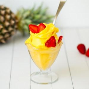 Raw Vegan Pineapple Mango Sorbet