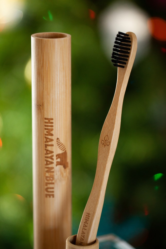Himalayan Blue Bamboo Toothbrush | Carrots & Flowers Vegan Holiday Gift Guide 2018