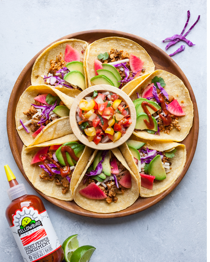 AMAZINGLY flavorful vegan Smoky Tempeh + Lentil Tacos. Plant-Based, Gluten-free, and Ready in just 20 minutes