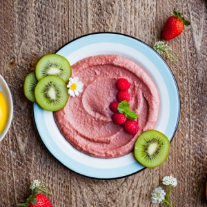 Strawberry Beet Dessert Hummus