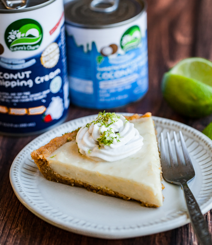 The best vegan key lime pie in a graham cracker macadamia crust. Topped with coconut whipped cream for a classic summer dessert. Recipe by a Key West native!