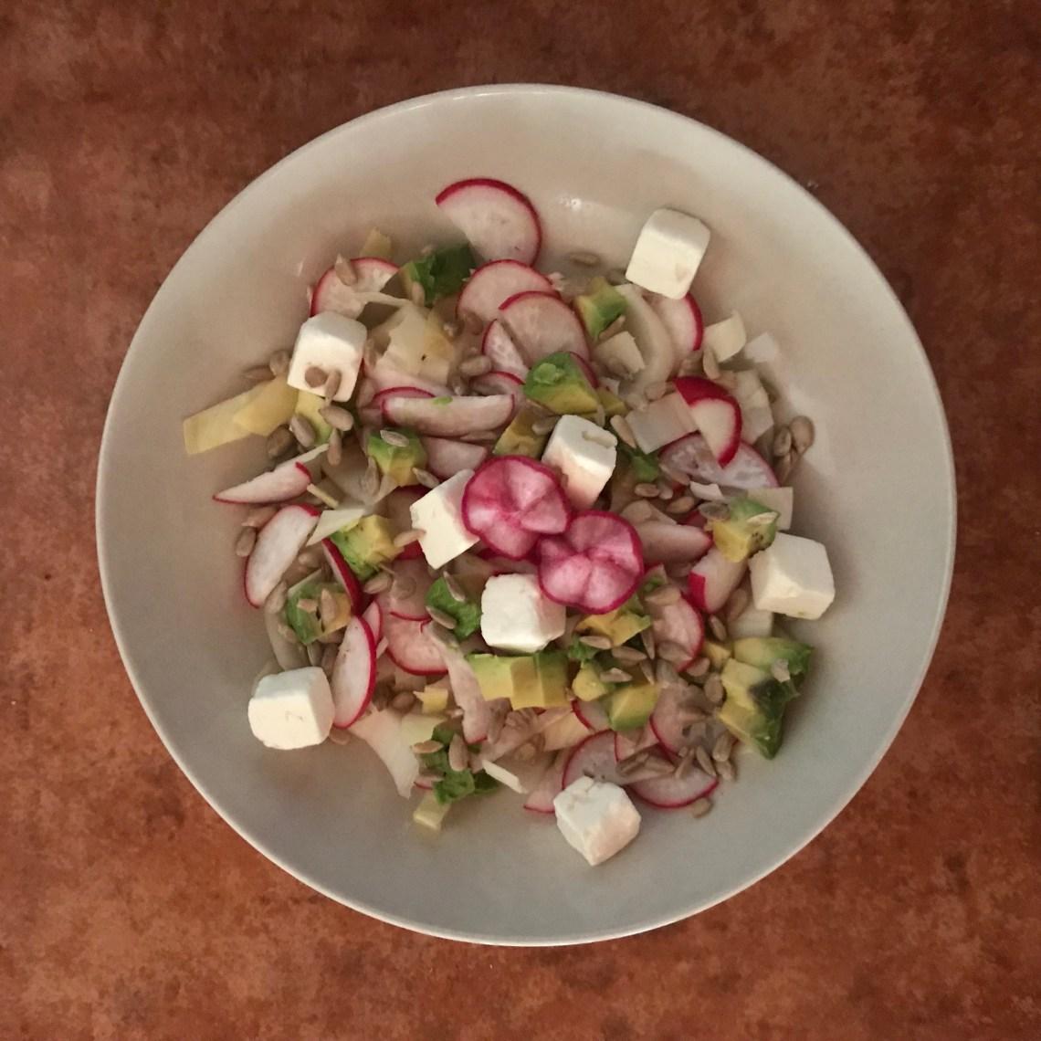 gluten-free salad in a bowl