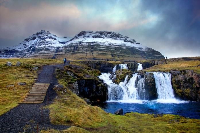 Waterfall near Kirkjufell in Iceland - Photo by Carry-On Traveler