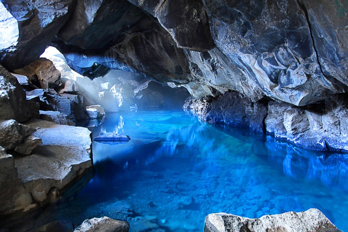 Grjotagja Cave in Iceland - Photo by Carry-On Traveler