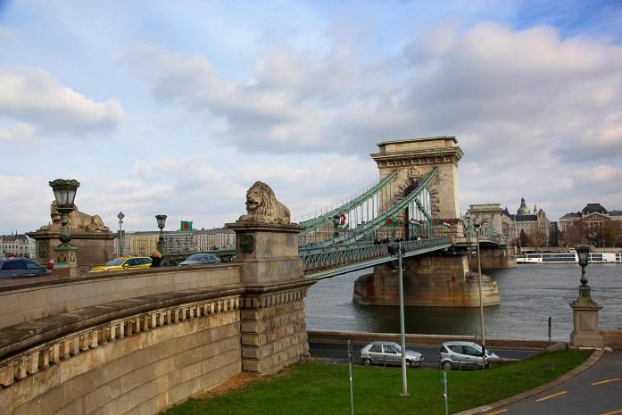 Budapest's iconic Chain Bridge