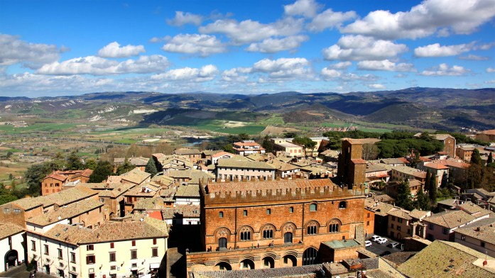 View 3 from the top of Torre Del Moro in Orvieto, Italy