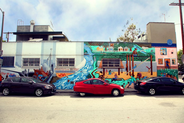 Venice Beach Building Mural