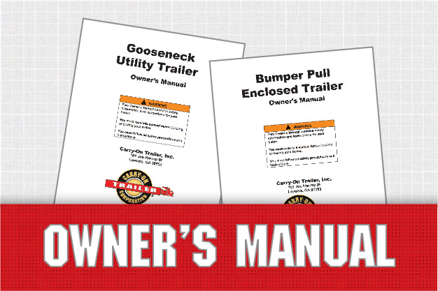owner's manuals – carryon trailer