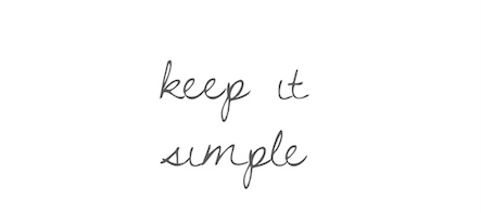keep it simple on plain white background.