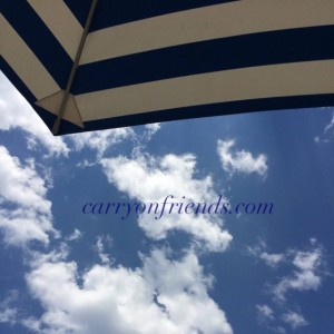 Summer sky and beach umbrella