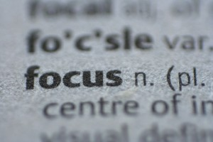 the word focus in the dictionary