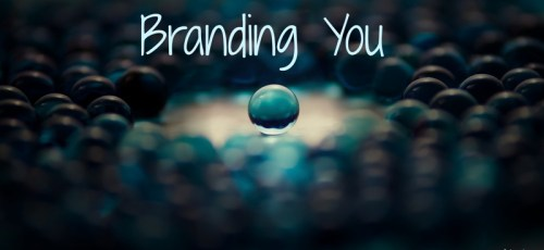 separate your self with personal branding showing blue marbles