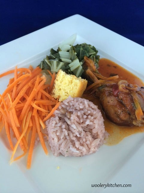 Jamaican Food from Woolery Kitchen on a White Plate