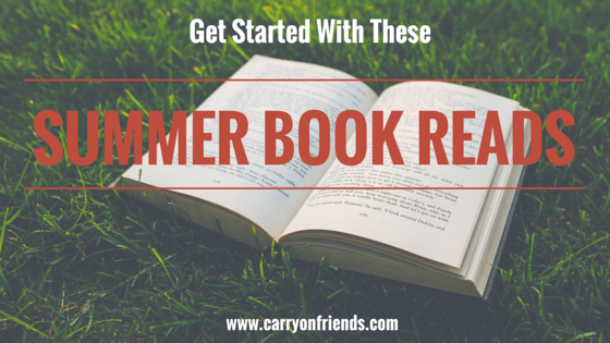 open book on grass Carry on Friends Summer books reads