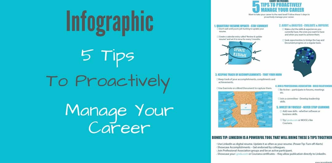 5 tips to proactively manage career infographic