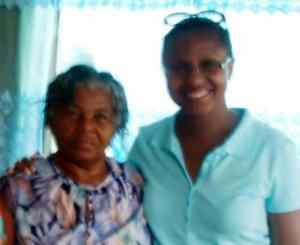 Kerry-Ann with her Caribbean Grandma Reid