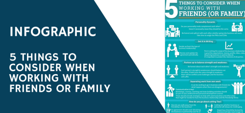 5 Things to consider when working with friends or family