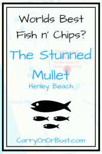 text reading Worlds Best Fish n' Chips at The Stunned Mullet henley beach