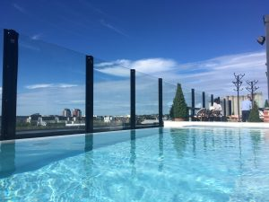 blue water infinity pool roof top pool