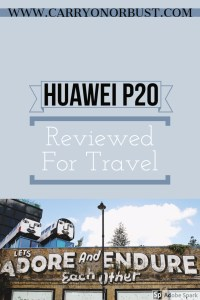 Huawei p20 reviewed for travel