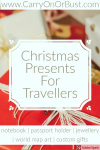 Christmas present ideas for travellers