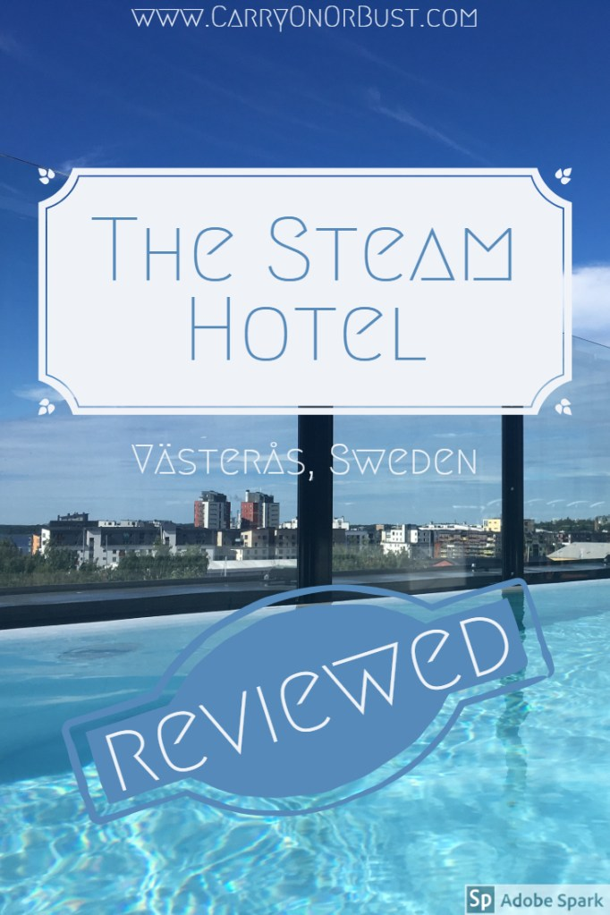 Review of The Steam Hotel Västerås, this shows the rooftop swimming pool at this hotell i Västerås