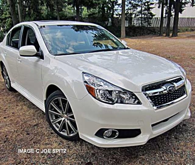 Front Of  Subaru Legacy Sport Model White Shown