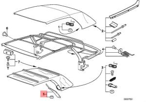 Genuine BMW 3 series E36 Convertible Roof Top Insert