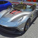 Unique Chrome Silver Ferrari F12 Trs Spotted In Rome Carscoops