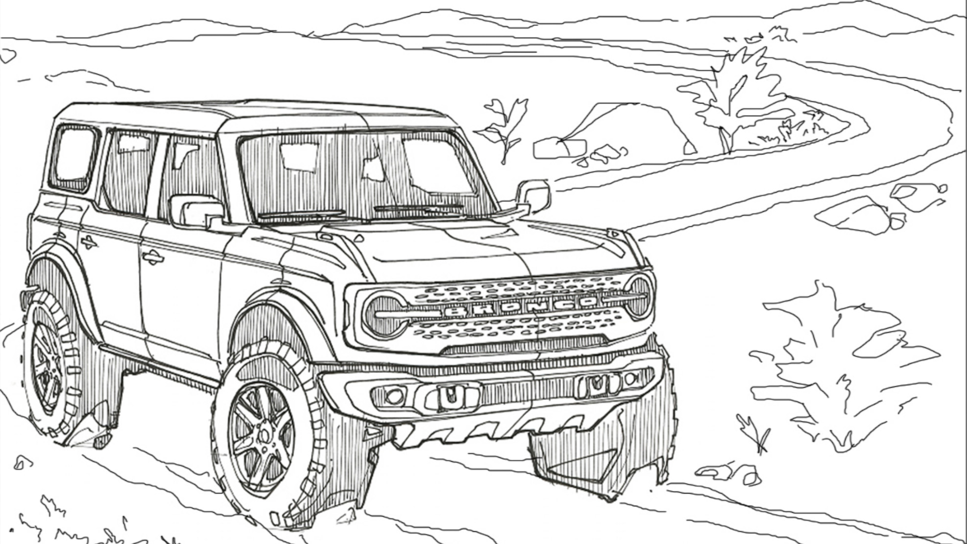 Ford Drops Coloring Pages For The Bronco And Bronco