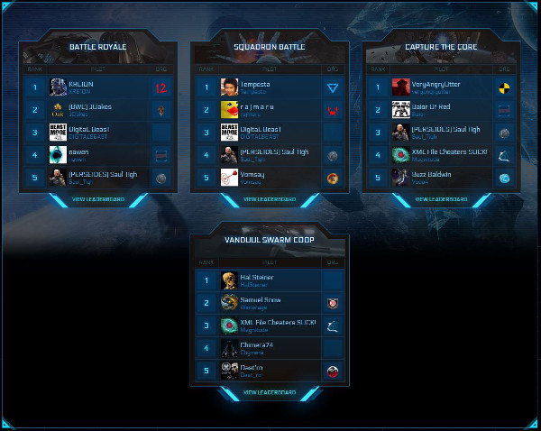 RSI Leaderboards Dogfighting